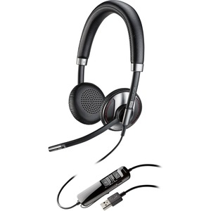 Plantronics Blackwire 725 Corded USB Headset With Active Noise Canceling (C725-M)
