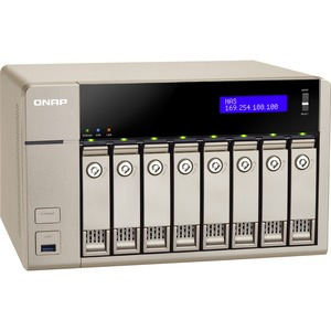 QNAP 8 Bay  TVS-863+-16G-US NAS AMD x86-based  Quad Core 2.4GHz 16GB RAM |Hot-swappable |Pre-installed 1 Port 10GbE, 2 x 1GbE |QvPC 4K Ultra HD display via HDMI