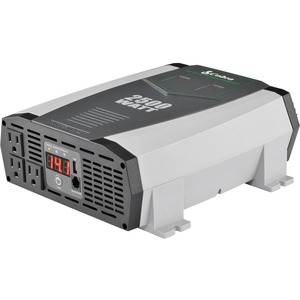 COBRA 120V AC, 2500 Watt, 2.1A USB, DC to AC power inverter, Status LED Meter, remote