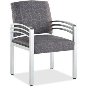HPFI Trados 914MET - Free Evening Polyester Seat - Free Evening Polyester Back - Metal, Steel Frame - Silver Reflectra Metallic - 1 Each