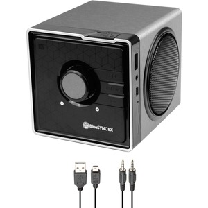 GOgroove BlueSYNC Portable Bluetooth Speaker System - 6 W RMS - Silver, Gloss Black