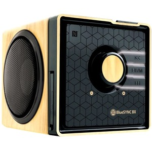 Accessory Power BlueSYNC Portable Bluetooth Speaker System - 6 W RMS - Wood, Gloss Black