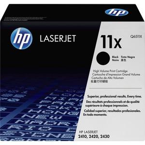 HP 11X Black Print Cartridge - Black - Laser - 12000 Page - 1 Each