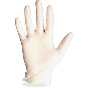 Protected Chef Vinyl General Purpose Gloves - Large Size - Unisex - Vinyl - Clear - Ambidextrous, Disposable, Powder-free, Comfortable - For Cleaning, Food Handling, General Purpose - 100 / Box