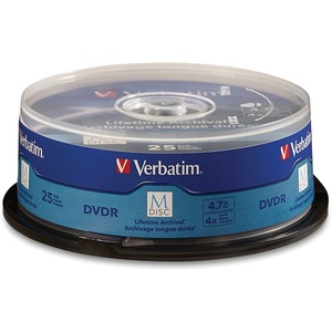 M-Disc DVDR 4.7GB 4X with Branded Surface - 25pk Spindle - 120mm - 2 Hour Maximum Recordin