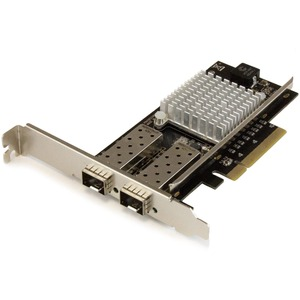 StarTech com 10G Network Card - 2x 10G Open SFP+ Multimode LC Fiber  Connector - Intel 82599 Chip - Gigabit Ethernet Card