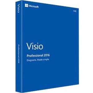 MICROSOFT VISIO PRO 2016 WIN ENGLISH license