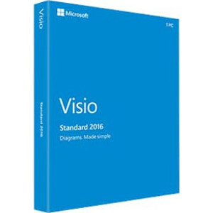 VISIO STD 2016 WIN ENG MEDIALESS