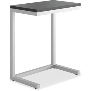 HON Cantilever Table, Black Finish - Rectangle Top - Cantilever Base - 17.50