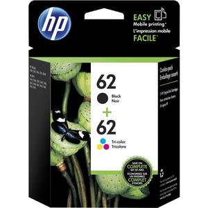 HP 62 Original Ink Cartridge | Black, Tri-color
