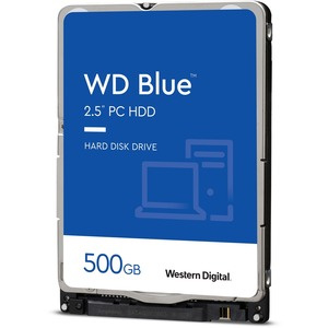 WESTERN DIGITAL BLUE 2.5inch 500GB 54000RPM SATA 6GB/S 16MB 7MM HARD DRIVE