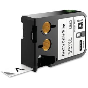 """Dymo XTL Flexible Cable Wrap Labels, 3/4"""""""