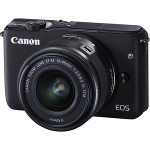 Canon EOS M10 18 Megapixel Mirrorless Camera with Lens - 15 mm - 45 mm - Black - 3inTouch