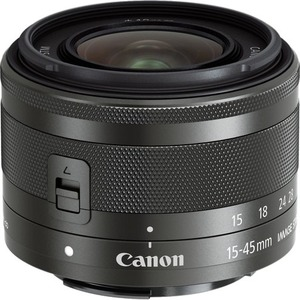 Canon - 15 mm to 45 mm - f/6.3 - Zoom Lens for Canon EF-M - Designed for Digital Camera -