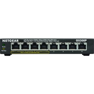 Netgear GS308P 8-PORT Gigabit Ethernet Switch With 4-PORT PoE