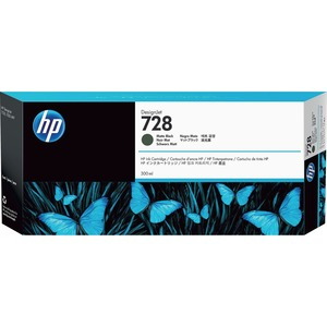 HP #728 300ML Matte Black Ink Crtg