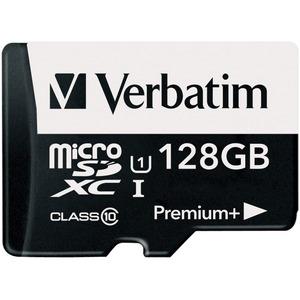 Verbatim 128GB PremiumPlus 533X microSDXC Memory Card with Adapter, UHS-I Class 10