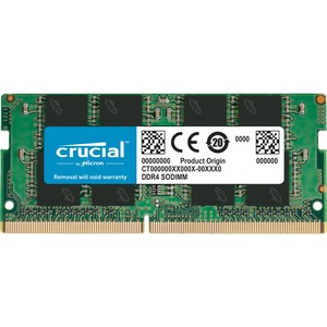 Crucial 16GB DDR4-2400 SODIMM PC4-19200 CL17 Single Ranked 1.2V Unbuffered 260PIN Memory