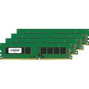 Crucial 32GB Kit 4x8GB DDR4-2400 UDIMM PC4-19200 CL17 Dual Ranked 1.2V Unbuffered 288PIN Memory