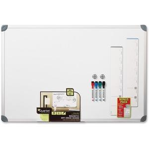 Quartet Magnetic Dry-Erase Board - Aluminum Aluminum Frame - Mount - 1 Each