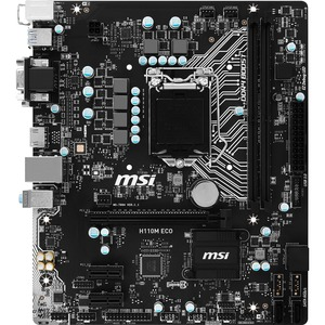 MSI H110M ECO Desktop Motherboard | Intel H110 Chipset | Socket H4 LGA-1151