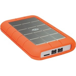 LaCie 1TB Rugged Triple USB 3.0 Firewire 800 External Hard Drive - Orange / White
