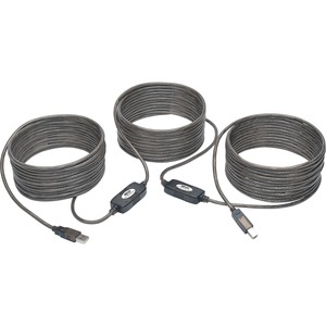 Tripp Lite USB 2.0 Hi-Speed Active Repeater Cable A/B M/M 480Mbps 50' 50ft