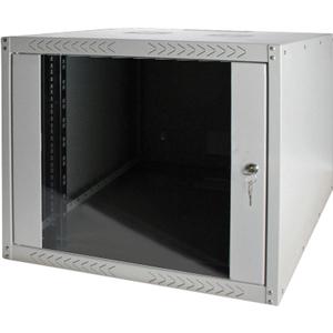 DIGITUS DN-19 07-U-EC 7U Rack Cabinet - 482.60 mm Rack Width - Grey - Glass, Steel