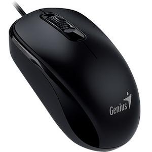 GENIUS DX-110 Mouse - Optical - Cable - 3 Button(s) - Black - Retail - PS/2 - 1000 dpi