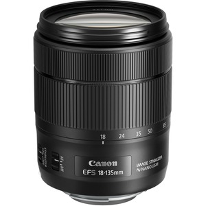Canon - 18 mm to 135 mm - f/5.6 - Standard Zoom Lens for Canon EF-S - Designed for Digital