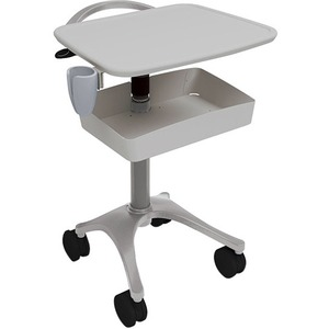 Anthro Zido Ultrasound Cart Package - 135 lb Capacity - 4 Casters - 4inCaster Size - Medi