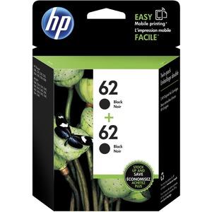 HP INC. - INK 2PK 62 BLACK INK CARTRIDGE