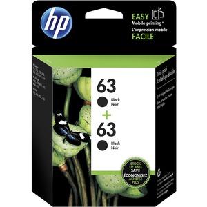 HP INC. - INK 2PK 63 BLACK INK CARTRIDGE