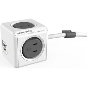 4-OUTLET EXTENDED DUAL USB SURGE PROTECT
