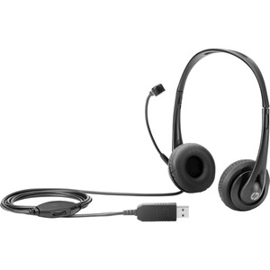 HP Headset - Stereo - USB - Wired - 32 Ohm - 20 Hz - 20 kHz - Over-the-head - Binaural - S