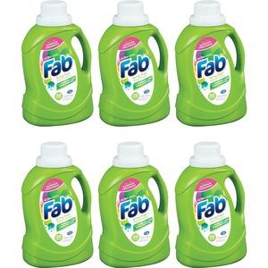 Colgate-palmolive Company Ajax Fab Spring Magic Ultra Laundry Detergent -  Concentrate - 0 39 Gallon (49 71 Fl Oz) - 6 / Carton - Green
