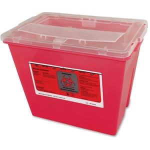 Impact Products 2-gallon Sharps Container - Lockable - 2 gal Capacity - Puncture Resistant, Handle - 6.8