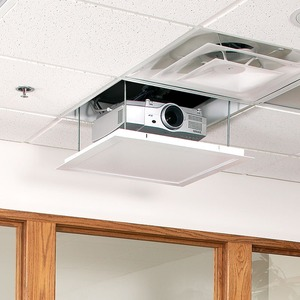 DRAPER AEROLIFT 35  110V CEILING RECESSED PROJECTOR LIFT W/ 35 LB CAPACITY.LOWER