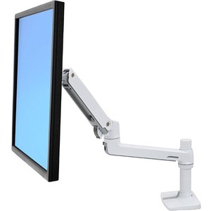 LX DESK MOUNT LCD MONITOR ARM, WHITE