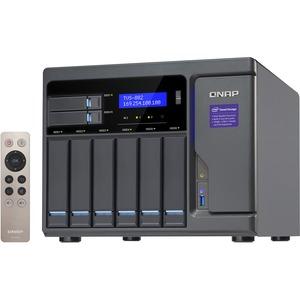 QNAP Network Attached Storage TVS-882-i3-8G-US 8Bay 8GB Skylake 3.7GHz Core i3-6100 10G-ready