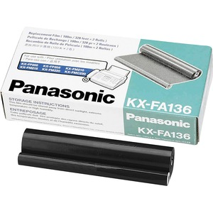 PANASONIC PRINT THERMAL FILM RIBBON - 2 PACK - 330 FT KXFA136A PANKXFA136 FOR US