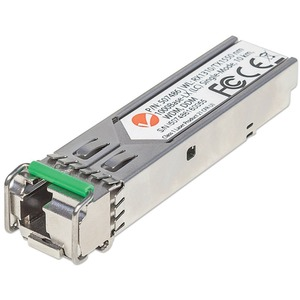 INTELLINET SFP (mini-GBIC) - 1 LC Duplex 1000Base-LX Network - For Optical Network, Data Networking