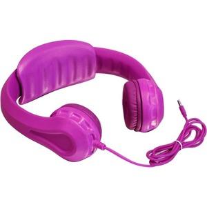 Aluratek Volume Limiting Wired Foam Headphones For Children (Pink)