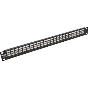 Tripp Lite 24-Port 1U Rack-Mount Patch Panel for Cat 5e Cat 6 RJ45 Ethernet