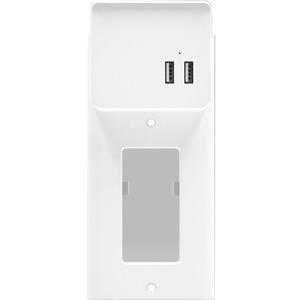 Aluratek 2-Port USB Charging Decor Wall Plate