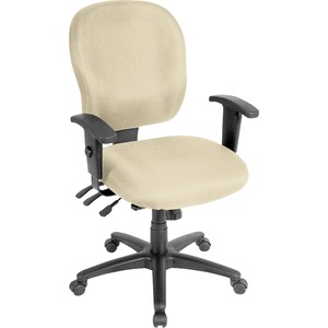 Lorell Task Chair - Fabric Seat - Fabric Back - 5-star Base - Beige, Buff - Yes - 1 Each