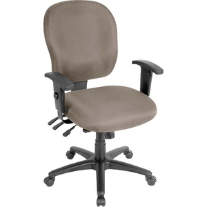 Lorell Task Chair - Fabric Seat - Fabric Back - 5-star Base - Brown, Stratus - Yes - 1 Each