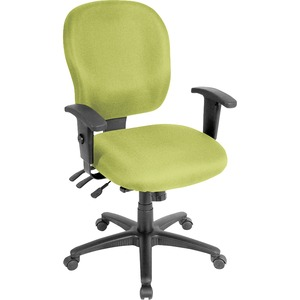 Lorell Task Chair - Fabric Seat - Fabric Back - 5-star Base - Green, Apple Green - Yes - 1 Each