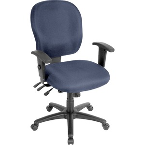 Lorell Task Chair - Fabric Seat - Fabric Back - 5-star Base - Blue, Ocean - Yes - 1 Each