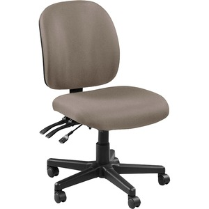 Lorell Mid-back Armless Task Chair - Fabric Seat - Fabric Back - Mid Back - 5-star Base - Brown, Stratus - 1 Each